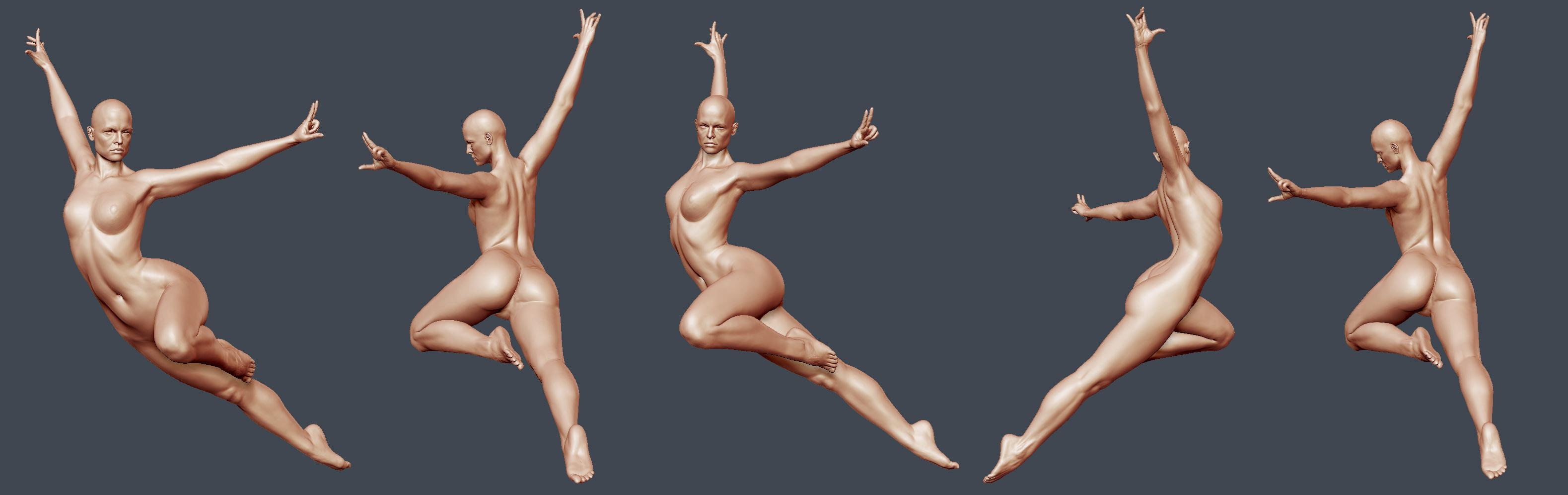 Naked girl playing